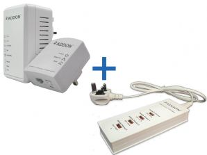 Addon 500Mbps Wi-Fi Powerline Starter Kit + 4 Ports USB Smart Charger